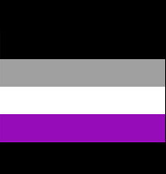 Asexual pride flag vector