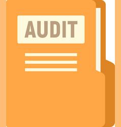 Audit company folder icon flat isolated vector