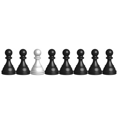 black and white pawns vector image