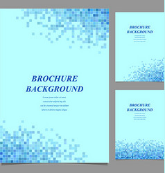 Blue color modern brochure template design vector