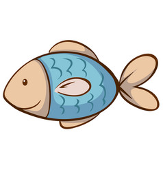 Blue fish on white background vector