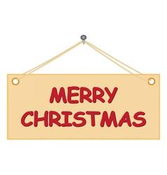 Board with Merry Christmas congratulation vector