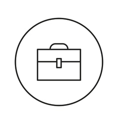 Briefcase line icon vector image