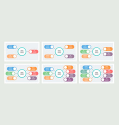 Business infographics organization charts with 3 vector