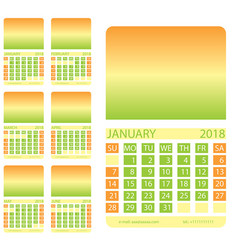 Calendar grid first six months vector