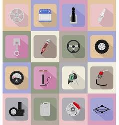 car equipment flat icons 19 vector image