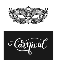 Carnival hand lettering inscription isolated and vector