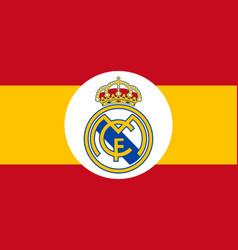 Club real emblem on spain flag vector