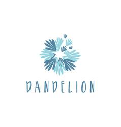 concept logo dandelion vector image