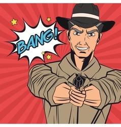 Cowboy man cartoon design vector
