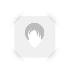 Default placeholder female avatar profile dummy vector