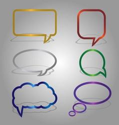 dialog bubbles set vector image