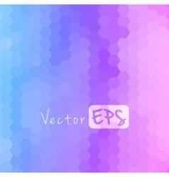 Digital hexagon pixel mosaic bright background vector image