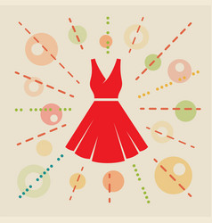 dress concept vector image
