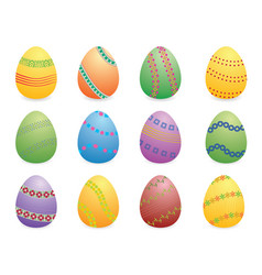 easter eggs set two vector image