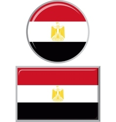 Egyptian round and square icon flag vector