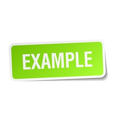 Example green square sticker on white background vector