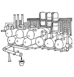 Factory pipes vector