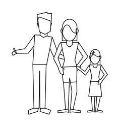 family avatar concept black and white vector image