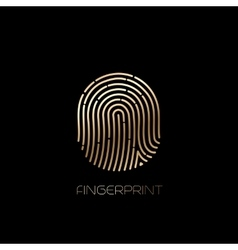 Fingerprint identification icon vector