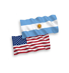 Flags argentina and america on a white vector