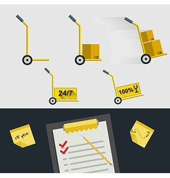 Flat icons for delivery of goods vector image vector image