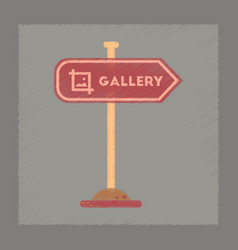 Flat shading style icon sign gallery vector