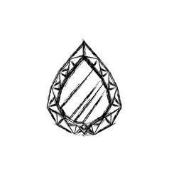 Gemstone esmerald jewel vector