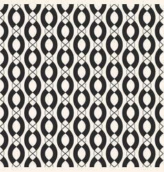 Geometric seamless pattern with vertical chains vector