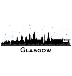 Glasgow scotland city skyline with black vector