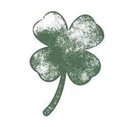 grunge clover shamrock vector image