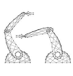 Hands manipulators robot from vector