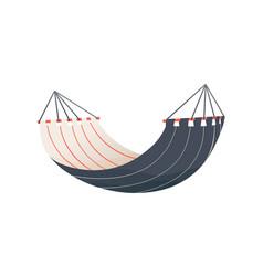 hanged striped tissue hammock flat vector image