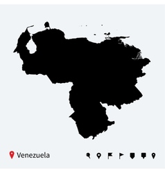 High detailed map of venezuela with navigation vector