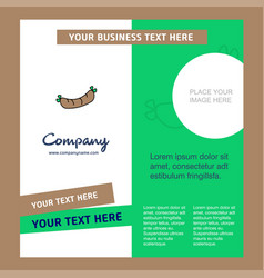 hot dog company brochure template busienss vector image