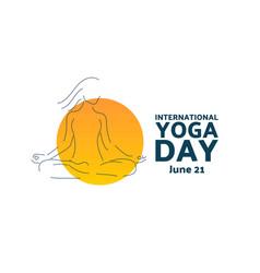 International day yoga june 21 holiday vector