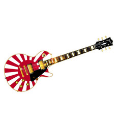 Japanese flag guitar vector
