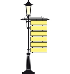 lantern with a signboard vector image