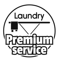 Laundry service room logo simple style vector