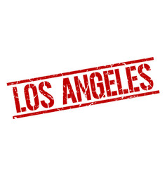 Los angeles red square stamp vector