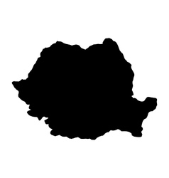 map of romania vector image