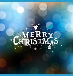 merry christmas card with bokeh vector image