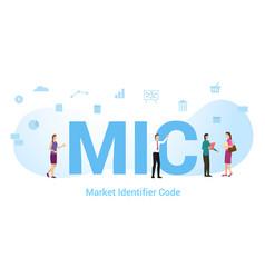 Mic market identifier code concept with big word vector