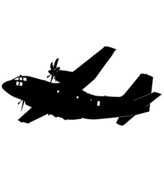 Military transport aircraft plane silhouette vector