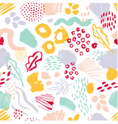 Modern seamless pattern with colorful hand painted vector
