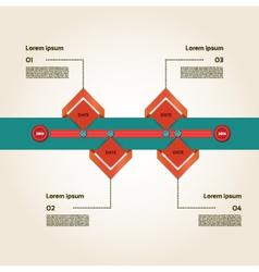 Modern timeline design template vector image