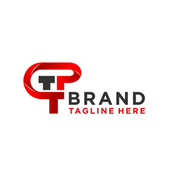 monogram logo design letter tp vector image