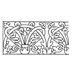 Mosaic ornament link border was designed during vector
