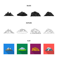 mountains in the desert a snowy peak an island vector image