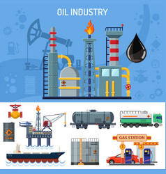 oil industry banner vector image